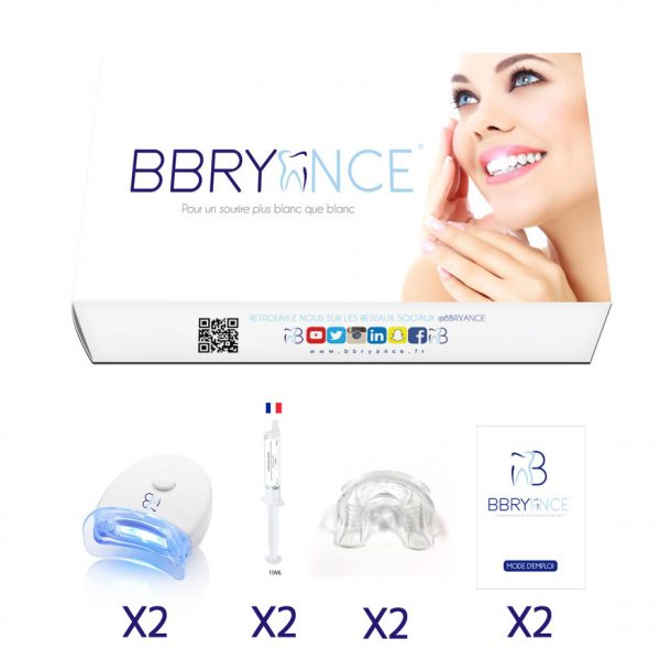 2 Kit per sbiancamento denti